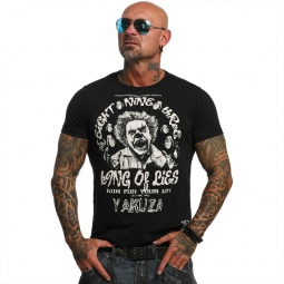 Yakuza T-shirt King of lies črna
