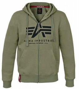 Alpha Industries basic ZIP hoody olive