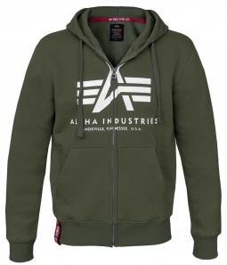 Alpha Industries basic ZIP hoody dark green