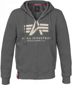 Alpha Industries basic ZIP hoody siv
