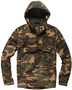 Vintage Industries Hopwood anorak camo
