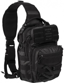 Nahrbtnik ASSAULT one strap Tactical (črn)