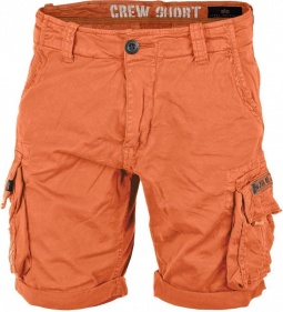Alpha Industries Crew Short oranžne