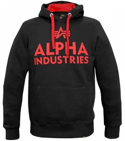 Alpha Industries Foam print hoody črn