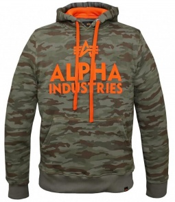 Alpha Industries Foam print hoody woodland camo