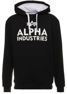 Alpha Industries Foam print hoody črno-bel