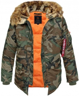 Alpha Industries N3B VF 59 parka - woodland camo